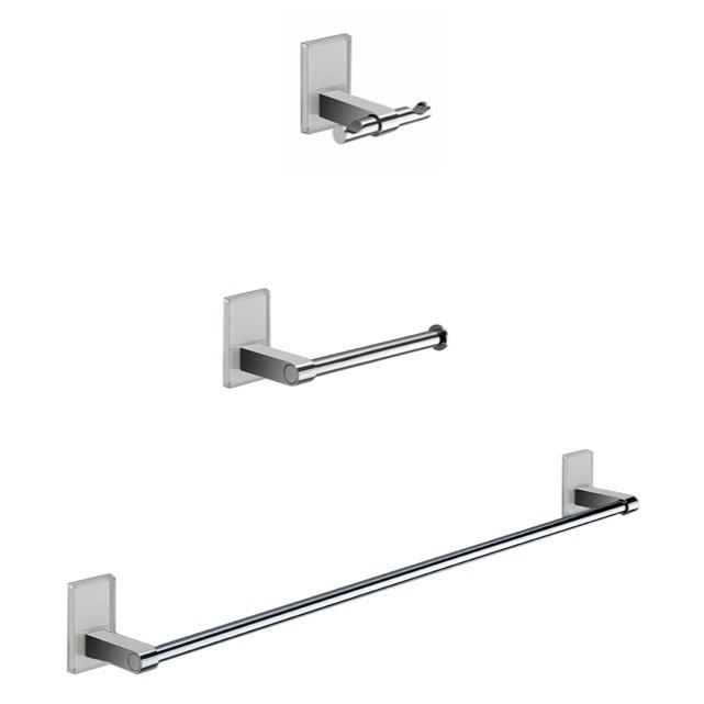 GEDY MNE321 MAINE WALL MOUNTED 3 PIECE AND CHROME ACCESSORY SET