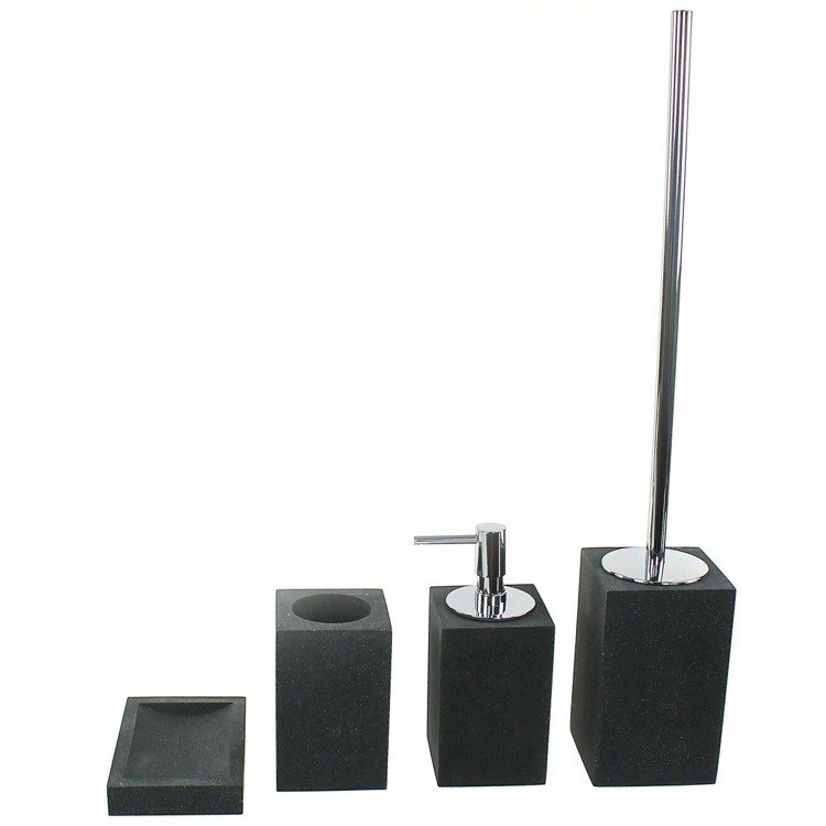 GEDY OL100 OLEANDRO STONE BATHROOM ACCESSORY SET IN 4 PIECES