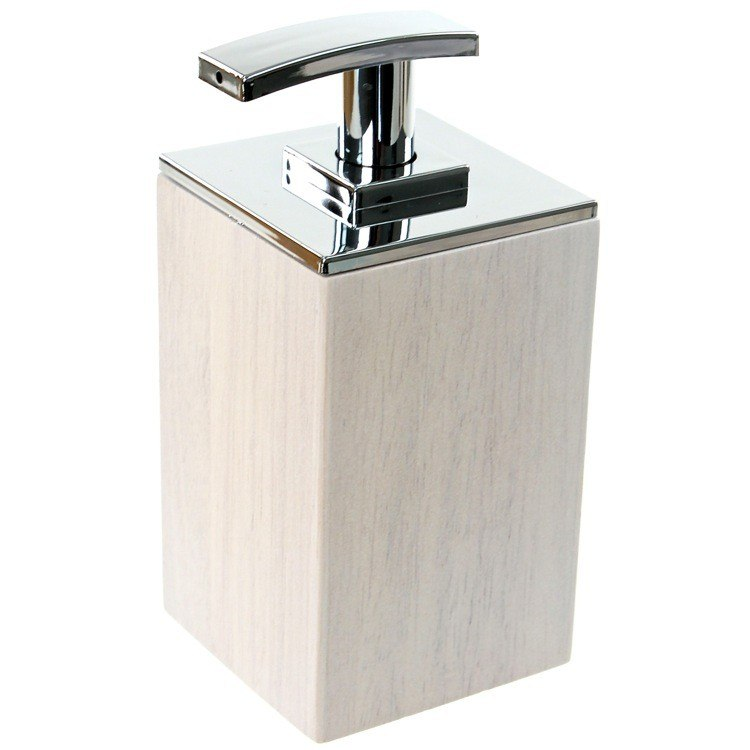 GEDY PA81 PAPIRO SHORT SOAP DISPENSER IN WOOD