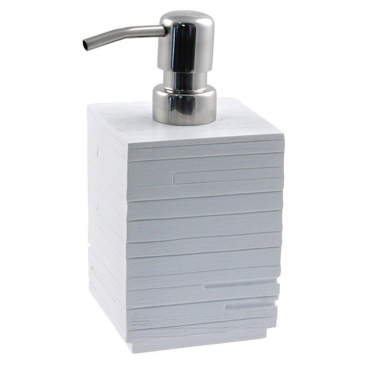 GEDY QU81 QUADROTTO SQUARE SOAP DISPENSER MADE FROM THERMOPLASTIC RESIN