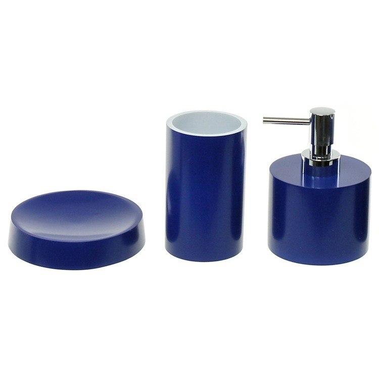 GEDY YU281 YUCCA BATHROOM ACCESSORY SET WITH SHORT SOAP DISPENSER