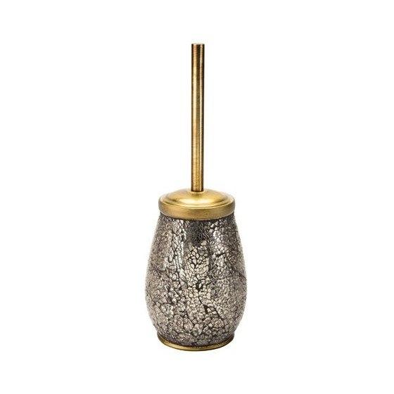 GEDY MY33-87 MYOSOTIS ROUND TOILET BRUSH HOLDER IN GOLD