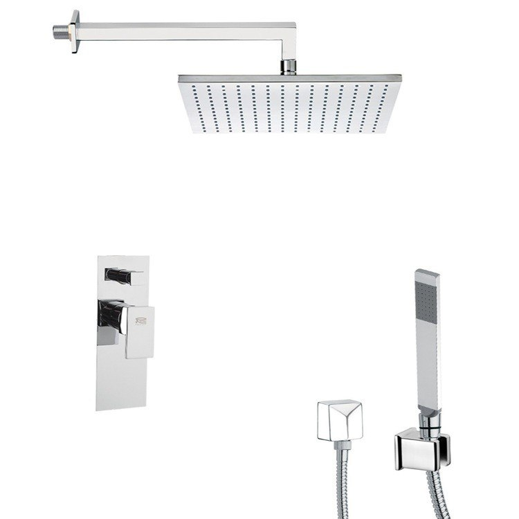 REMER SFH6510 PRIMAVERA SQUARE SHOWER FAUCET WITH HAND SHOWER