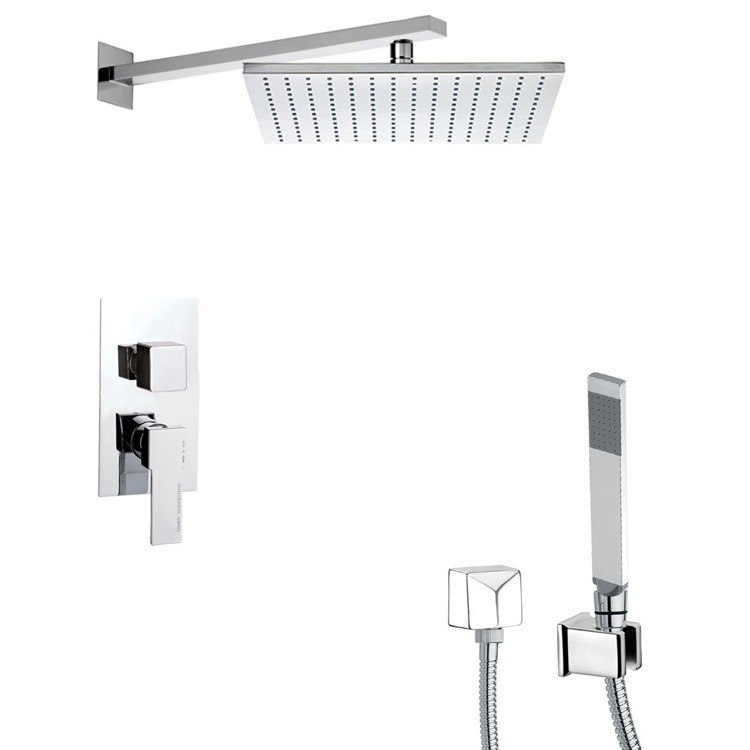 REMER SFH6514 PRIMAVERA SQUARE SHOWER SYSTEM WITH HAND SHOWER