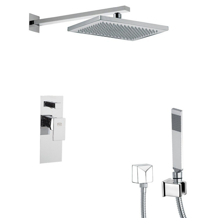 REMER SFH6543 PRIMAVERA SQUARE THEMED SHOWER FAUCET