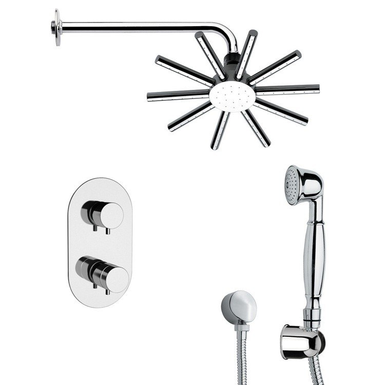 REMER SFH6547 PRIMAVERA CONTEMPORARY SHOWER FAUCET WITH HAND SHOWER