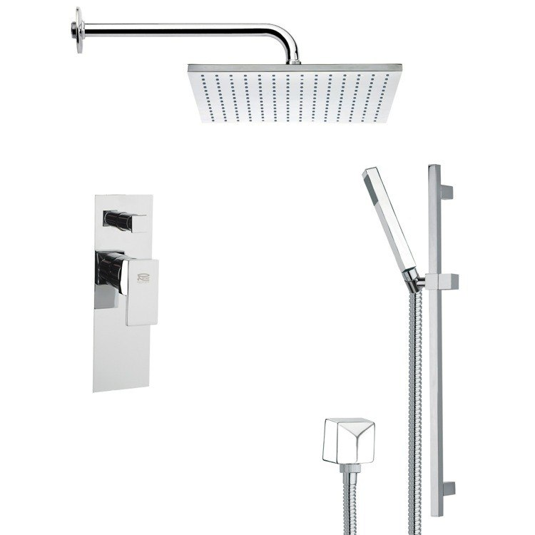 REMER SFR7099 RENDINO CONTEMPORARY SQUARE SHOWER FAUCET SET