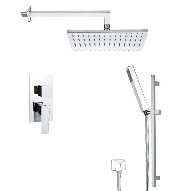 REMER SFR7509 AUTUNNO CONTEMPORARY SHOWER FAUCET WITH SLIDING RAIL