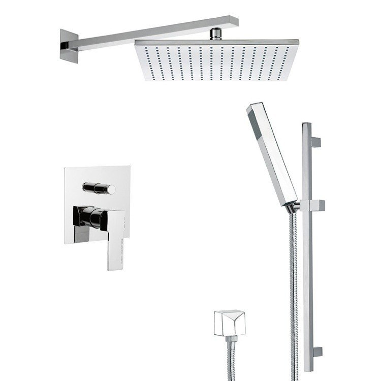REMER SFR7513 AUTUNNO SLEEK SHOWER FAUCET SET WITH SLIDING RAIL