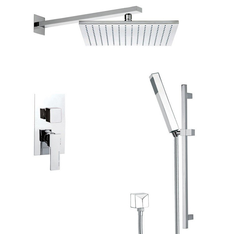 REMER SFR7516 AUTUNNO MODERN SHOWER SYSTEM WITH SLIDING RAIL
