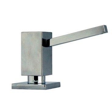 Whitehaus WHSQ-SD003 Q-Haus 3 3/4 Inch Solid Brass Soap/Lotion Dispenser