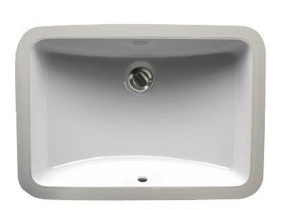 Nantucket Sinks UM-18x12-W 21 Inch Great Point Undermount Crafted Bath Sink