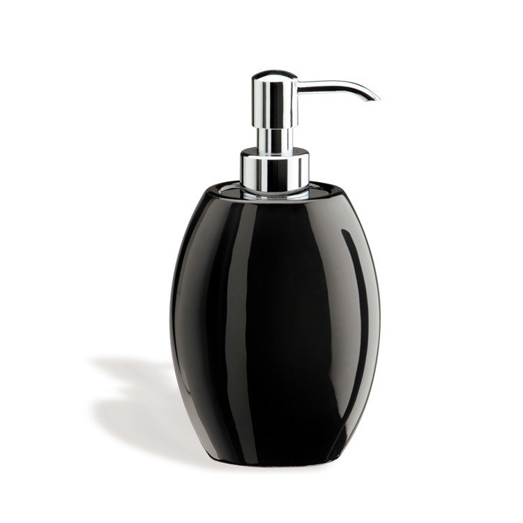 STILHAUS 654 ZEFIRO MODERN ROUNDED CERAMIC SOAP DISPENSER