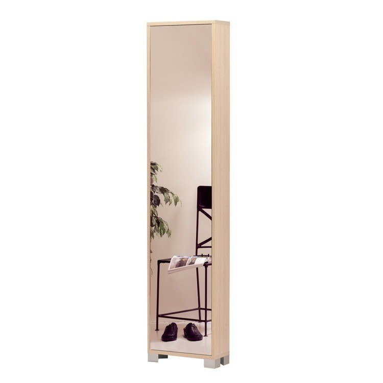 Sarmog 746SP Quadrante 75 x 17 Inch Stylish Column Shoes-Rack with 1 Mirror Door