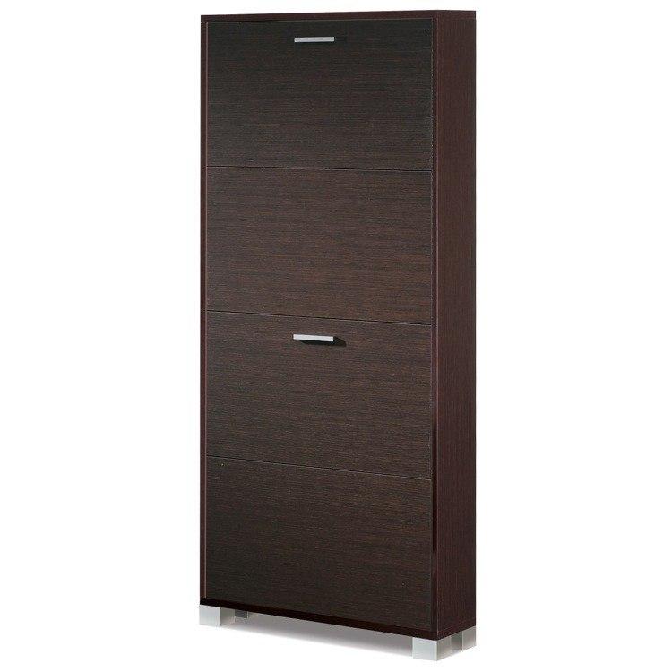 Sarmog 754WE Quadrante 61 x 28 Inch Shoe Rack with 4 Folding Single-Depth Doors