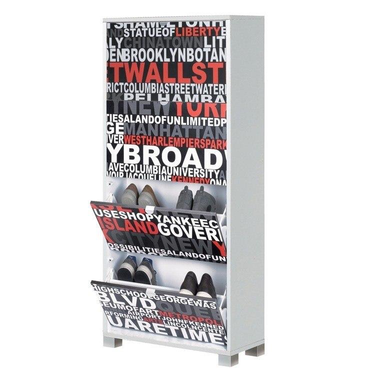 Sarmog 764SR Quadrante 61 x 28 Inch Stylish Shoe Rack with 4 Folding Doors