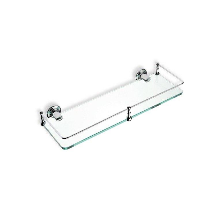 STILHAUS 766 SMART 16 X 5 INCH CLEAR GLASS BATHROOM SHELF