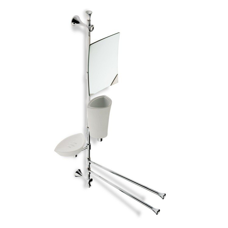 STILHAUS CA24-08 CALI WALL MOUNTED CHROME BATHROOM BUTLER