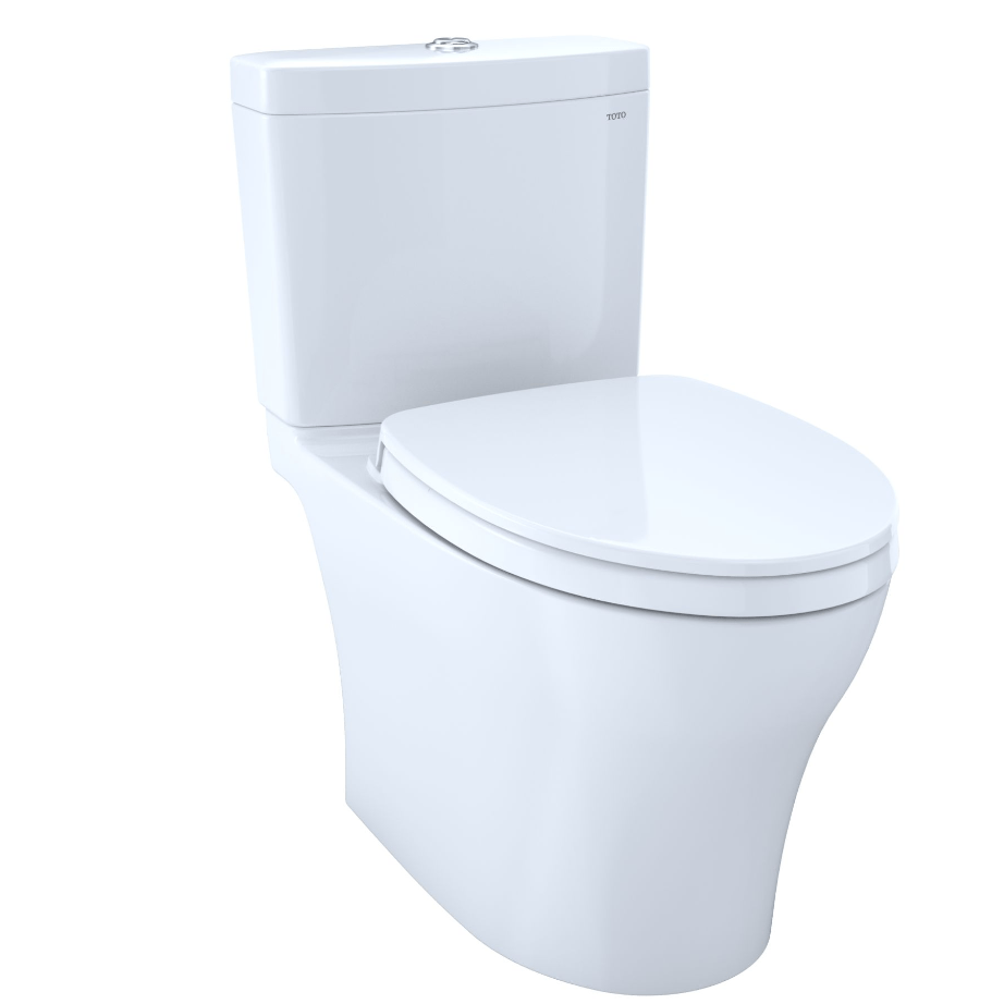 Toto CST446CUMG#01 Aquia IV Two-Piece Elongated 1.0/0.8 Dual Flush Skirted Toilet with CeFiONtect, Cotton White