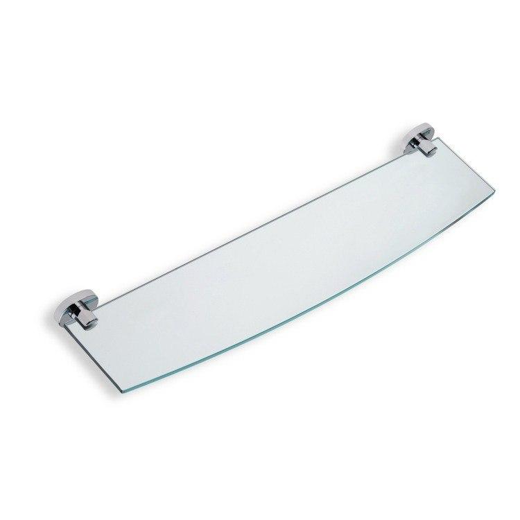 STILHAUS DI04 DIANA 22 X 5 INCH CLEAR GLASS BATHROOM SHELF WITH BRASS HOLDER