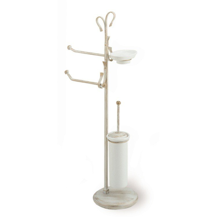 STILHAUS F21 FLORA FREE STANDING CLASSIC-STYLE 4-FUNCTION BATHROOM BUTLER