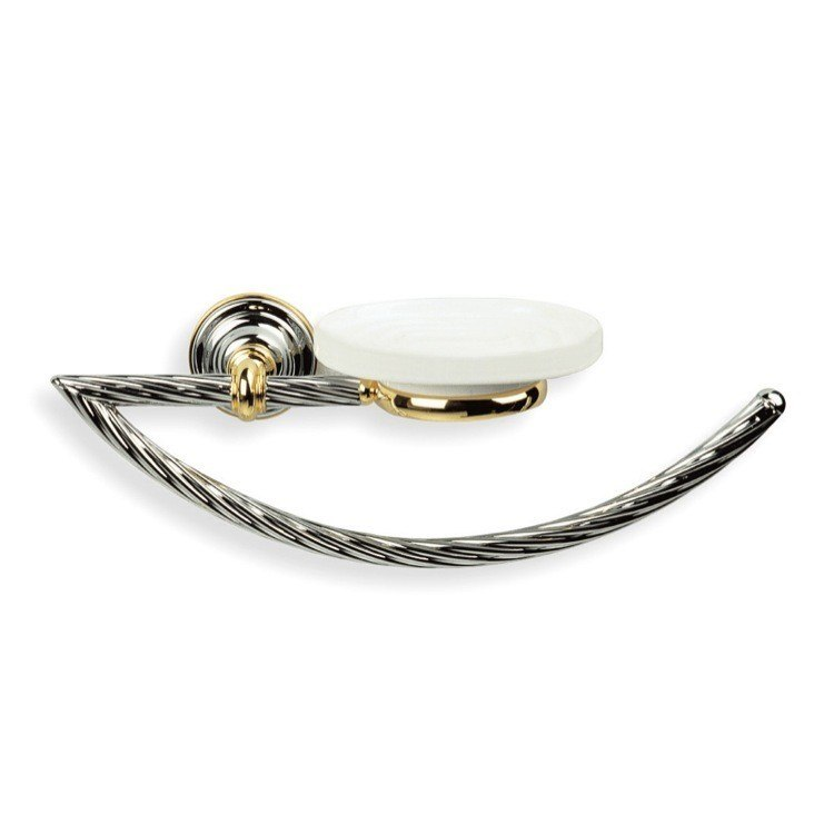 STILHAUS G79 GIUNONEBRASS TOWEL RING WITH SOAP DISH