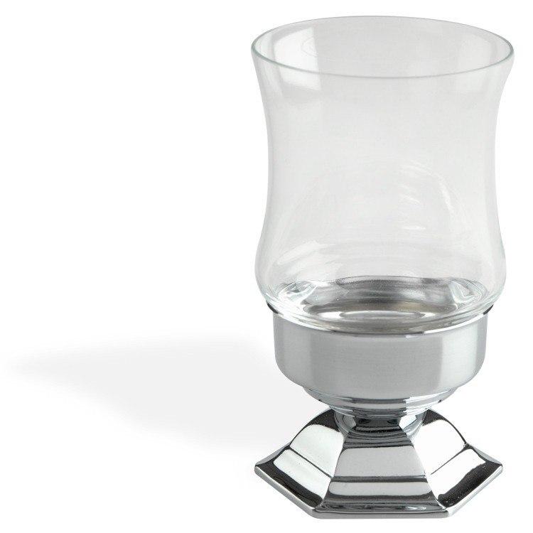 STILHAUS MA10AP MARTE SLEEK MODERN FREE STANDING CRYSTAL GLASS TOOTHBRUSH HOLDER/TUMBLER