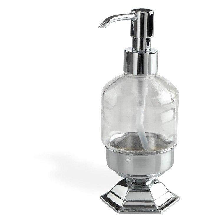 STILHAUS MA30AP MARTE CONTEMPORARY FREE STANDING CRYSTAL GLASS LIQUID SOAP DISPENSER