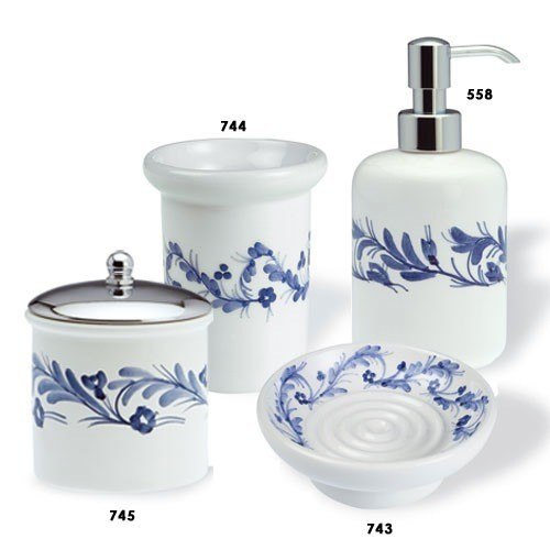 STILHAUS N100 NEMI CLASSIC-STYLE ROUND CERAMIC BATHROOM ACCESSORY SET