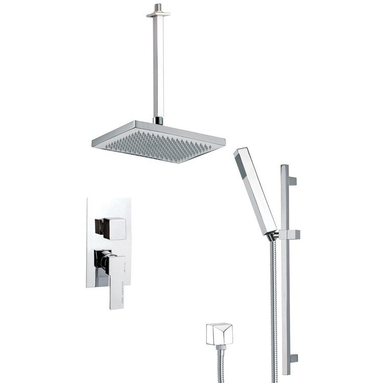 REMER SFR7546 AUTUNNO MODERN SHOWER SYSTEM WITH SLIDING RAIL
