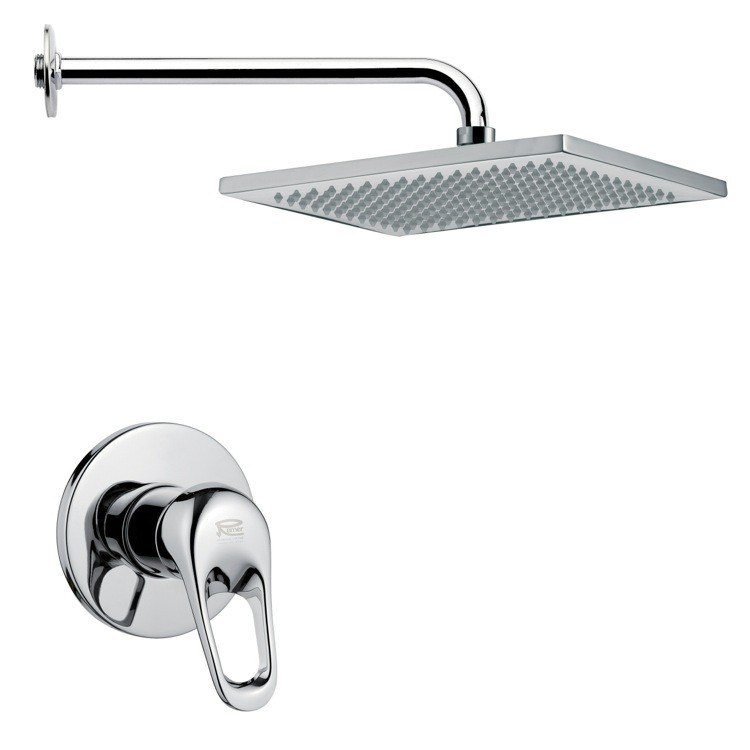 REMER SS1118 MARIO RECTANGULAR MODERN SHOWER FAUCET SET