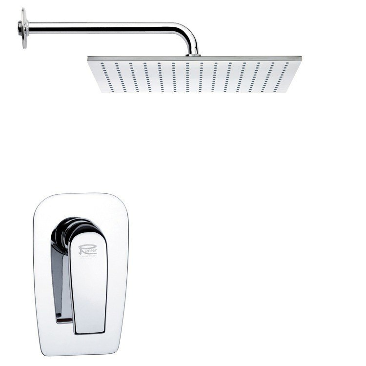 REMER SS1123 MARIO RECTANGULAR MODERN SHOWER FAUCET SET