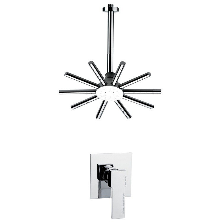 REMER SS1274 MARIO ROUND AND MODERN SHOWER FAUCET SET