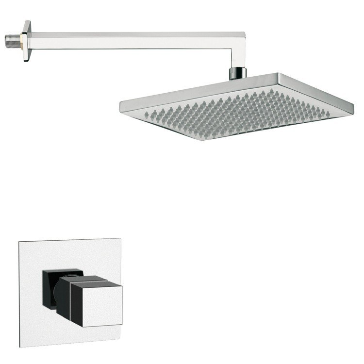 REMER SS1402 MARIO THERMOSTATIC SQUARE SHOWER FAUCET SET