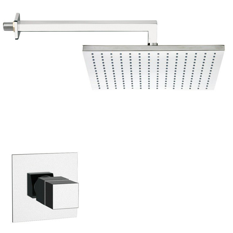 REMER SS1403 MARIO THERMOSTATIC SQUARE SHOWER FAUCET SET