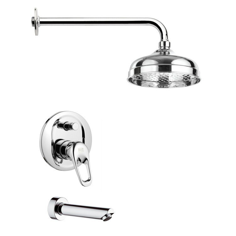 REMER TSF2040 PELEO MODERN TUB AND RAIN SHOWER FAUCET