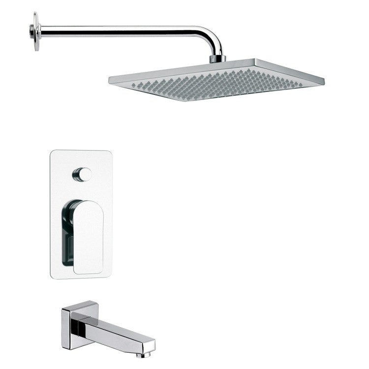 REMER TSF2116 PELEO CONTEMPORARY SQUARE SHOWER SYSTEM