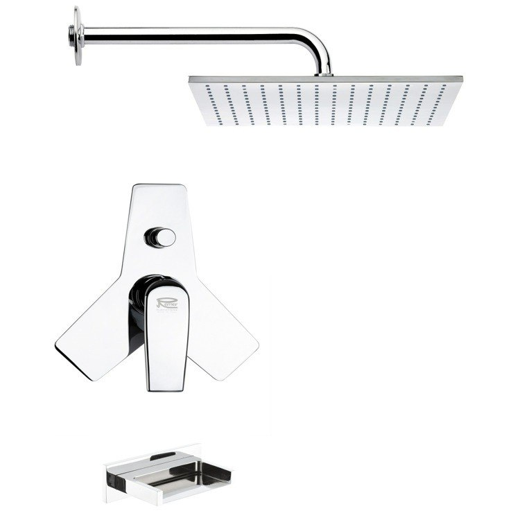 REMER TSF2122 PELEO CONTEMPORARY SQUARE SHOWER SYSTEM