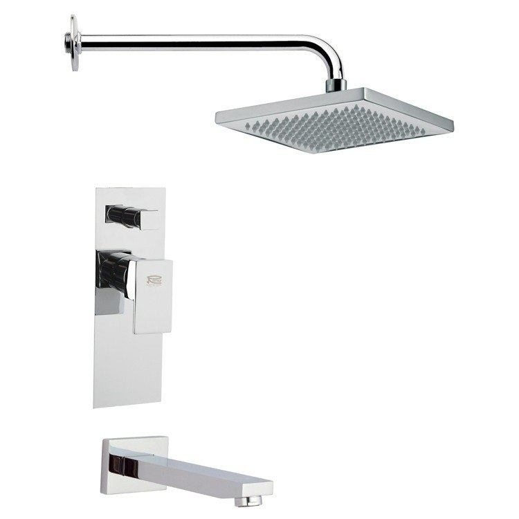 REMER TSF2126 PELEO SQUARE CONTEMPORARY SHOWER SYSTEM