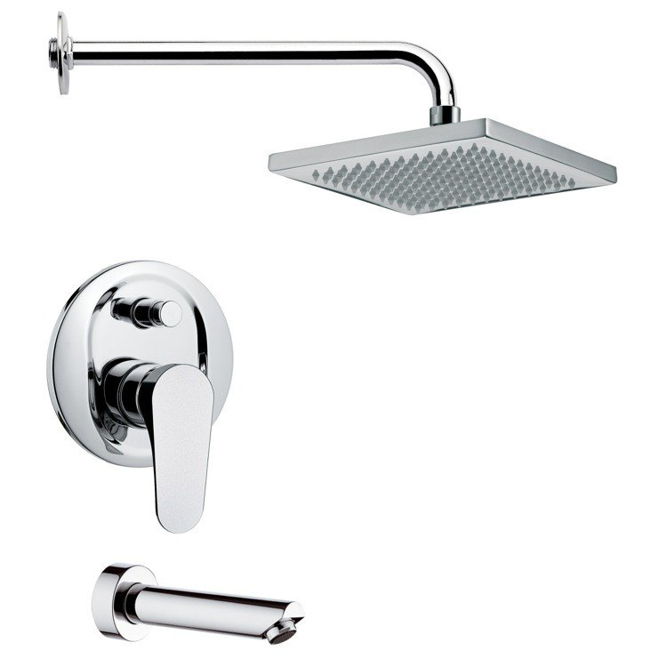 REMER TSF2129 PELEO SQUARE MODERN TUB AND SHOWER FAUCET