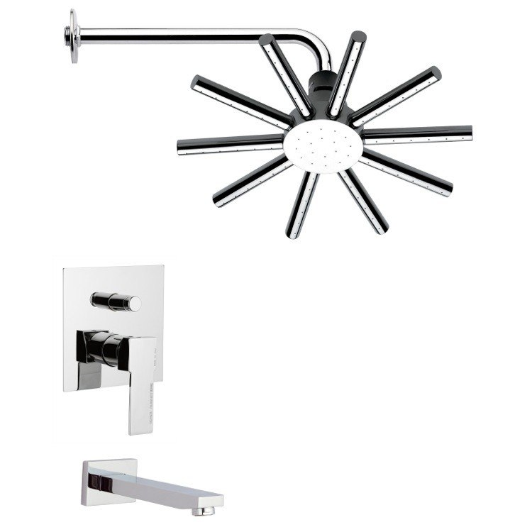 REMER TSF2133 PELEO SLEEK TUB AND SHOWER FAUCET SET