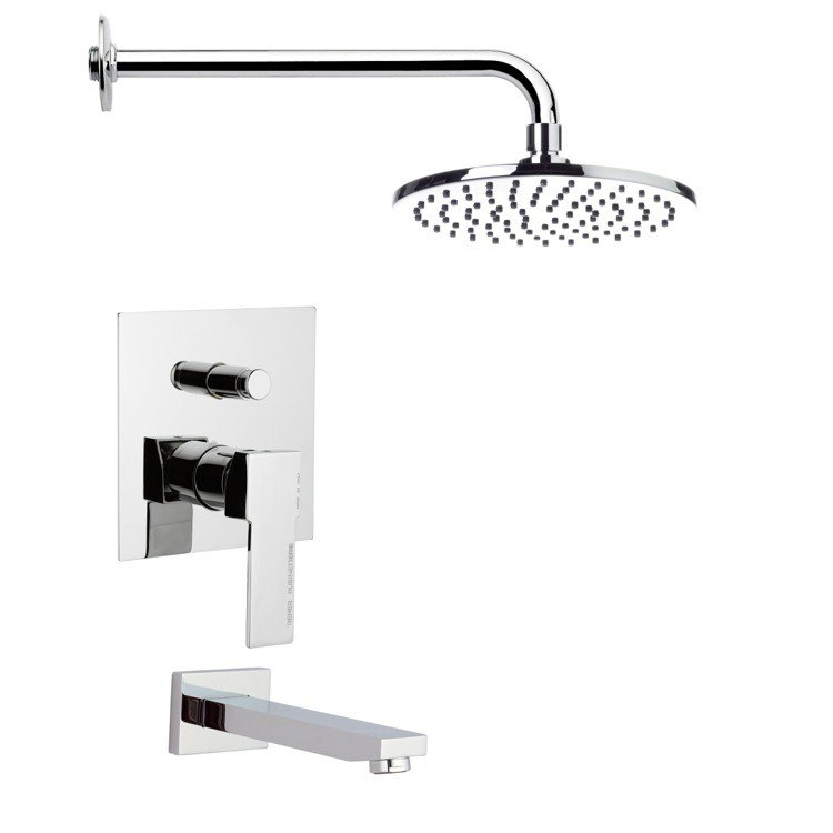 REMER TSF2147 PELEO MODERN ROUND TUB AND SHOWER FAUCET SET