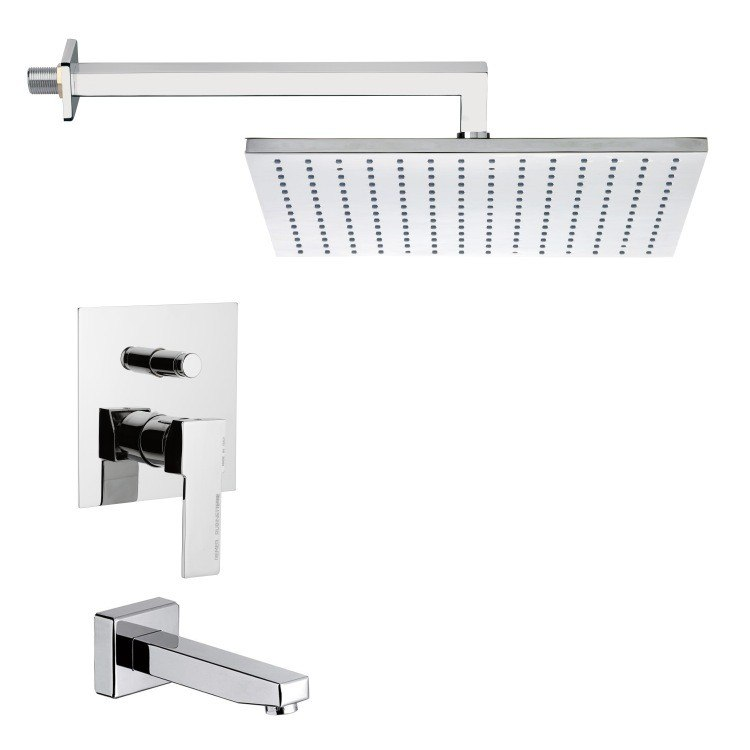 REMER TSF2297 PELEO MODERN SQUARE SHOWER SYSTEM