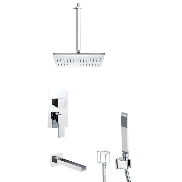 REMER TSH4505 INVERNO SQUARE THEMED TUB AND SHOWER FAUCET