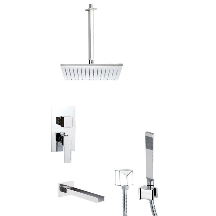 REMER TSH4506 INVERNO TUB AND SHOWER FAUCET WITH SLIDING RAIL
