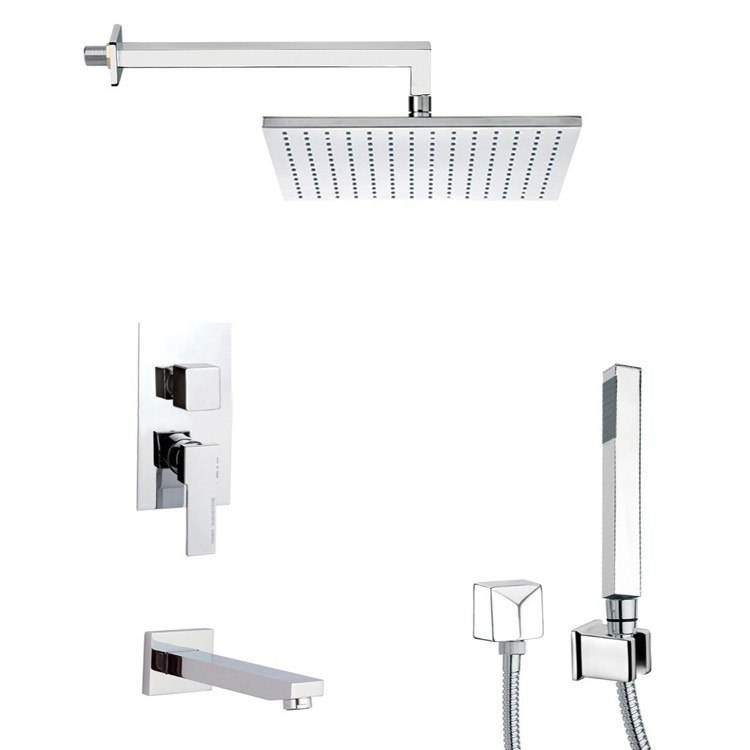 REMER TSH4509 INVERNO CONTEMPORARY TUB AND SHOWER FAUCET WITH SLIDING RAIL