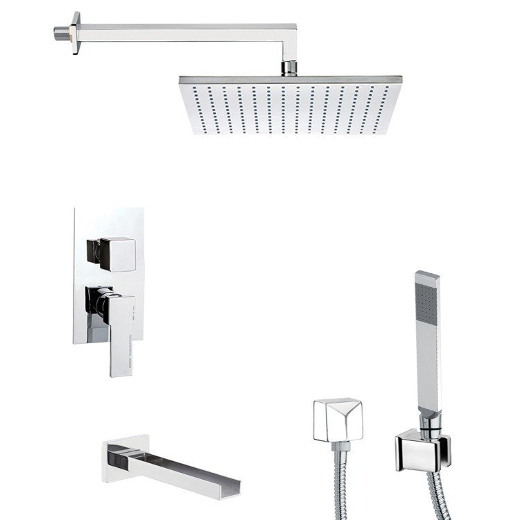 REMER TSH4511 INVERNO TUB AND SHOWER FAUCET WITH SLIDING RAIL