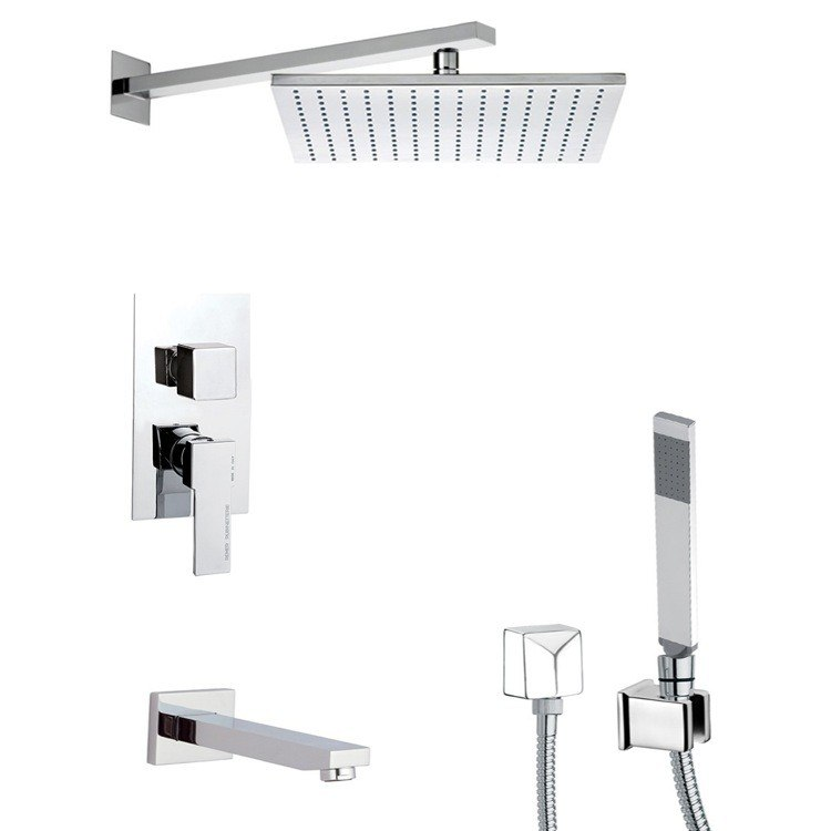REMER TSH4515 INVERNO TUB AND SHOWER FAUCET WITH SLIDING RAIL