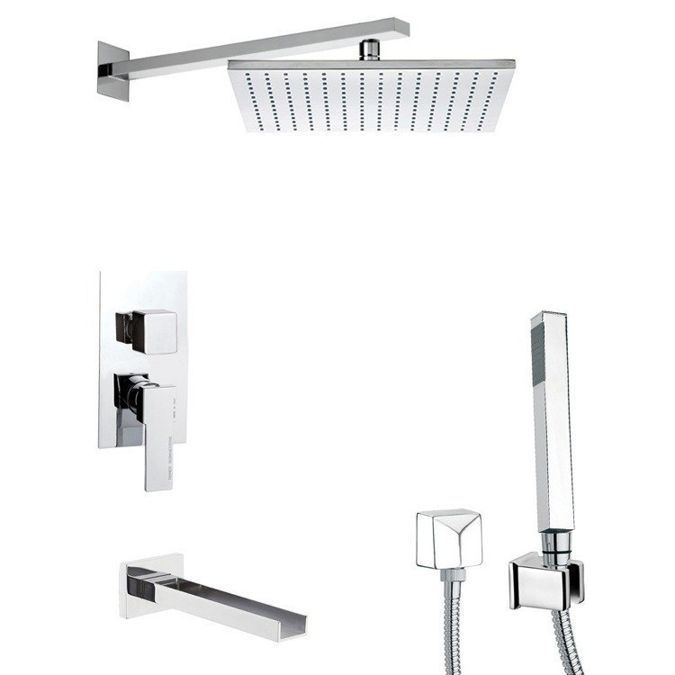 REMER TSH4516 INVERNO MODERN SHOWER SYSTEM WITH SLIDING RAIL