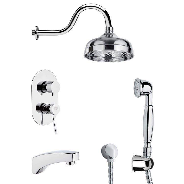 REMER TSH4527 INVERNO SHOWER SYSTEM WITH SLIDING RAIL